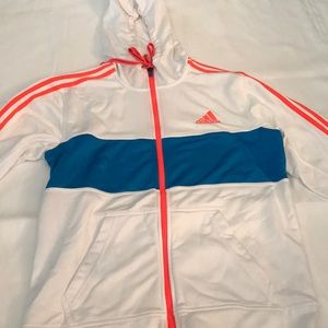 Adidas Zip Hooded Sweatshirt